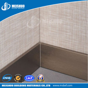 Aluminum Baseboard Metal Skirting Board for Decoration pictures & photos