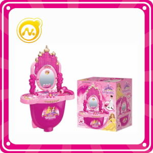Girls Pretend Toy Plastic Dresser Table with Beaty Set Toy