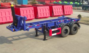 2 Axles Dumping Container Chassis Semi-Trailer pictures & photos