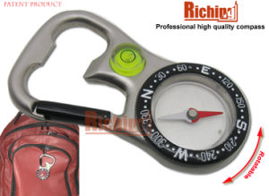 New Design Carabiner Compass with Bubble Level for Gift and Outdoor #CA-28
