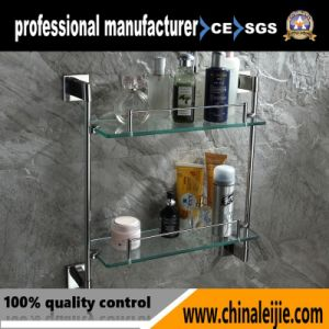 Durable Stainless Steel 304 Double Glass Shelves Bathroom Fitting pictures & photos