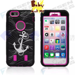 Pirate Ship Design Cartoon Case for iPhone 6, 2 Layers Popular Case for iPhone 6.