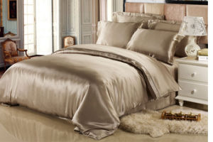 Soft and Light Gorgeouspure Solid Colour Silk Bedding Sets