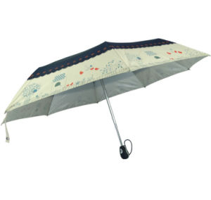 Hot Sell 3 Fold Lady Fully Automatic Umbrella
