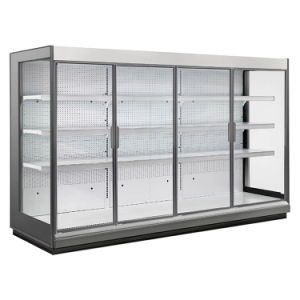 Big Discount Ce Approved Supermarket Glass Door Refrigerator