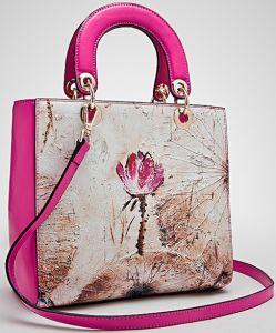 3e79236c7558 2015 Luggage Case New Designer Genuine Togo Leather Lotus Flower Water Lily  Platinum PT Sliver Business