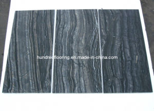 Chinese Black Marble Tile Antique Wood Vein Marble pictures & photos