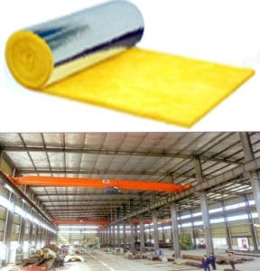 Fiber Glass Wool Blanket- Roofing Insulation Wall Acoustic Absorbing