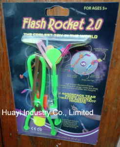 Flash Rocket LED Light up Night Flyer Toy Customized OEM