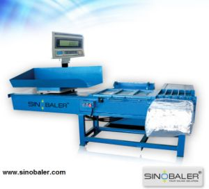 Scale Weighing Horizontal Bagging Baler for Wood Shavings