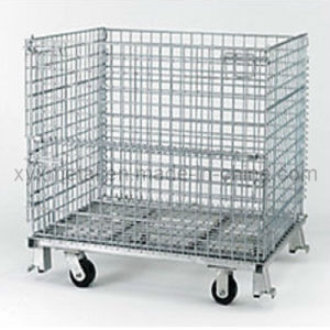 Folding Heavy Duty Collapsible Transport Roll Wire Mesh Containers pictures & photos