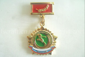 Cheap Gold Plating Metal Medals & Badges