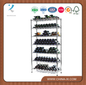 Floor Standing 7 Tier Stainless Steel Wine Rack pictures & photos