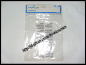 Transparent PVC Header Bag with Butterfly Hole / PVC Slider Bag pictures & photos