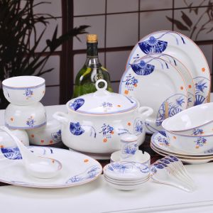 Chinaware Ceramic Porcelain Ware Dinnerware Sets Tableware Kitchenware Chinese Verse Bone China & Chinaware Ceramic Porcelain Ware Dinnerware Sets Tableware ...