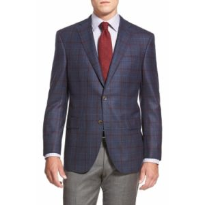 Made to Measure Hand Made Merino Wool Checked Fabric Fashion Blazer Jacket for Men (SUIT63051-1) pictures & photos