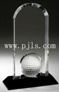 Customized Cheap Golf Trophy Award with Crystal Material pictures & photos