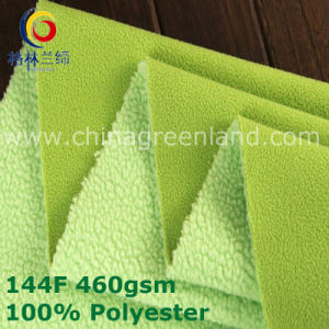Polyester Weft Knitted Polar Fleece Fabric for Clothes Textile (GLLML380) pictures & photos