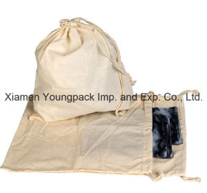 Promotional 100% Natural Cotton Fabric Cloth Draw-String Bag pictures & photos