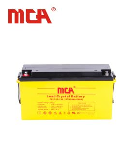 High Quality 12V 150ah Solar Lead Crystal Battery