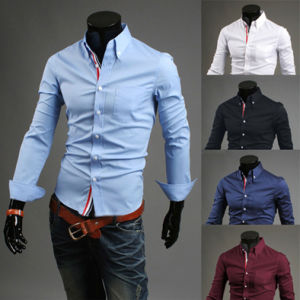 Formal Mens Custom Long Sleeve Button Dress Shirts (A442)