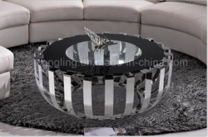 Modern Stainless Steel Round Table for Dining Furniture