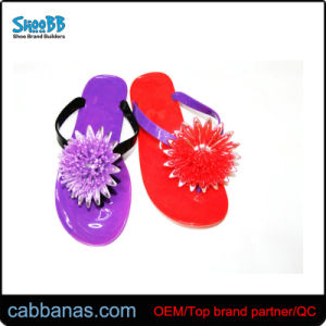 a3e18bebaf0427 Floral Beautiful Flowers Stylish Leisure Jelly Beach Thong Flip Flops  Slippers for Womens Ladies