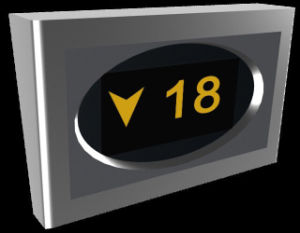 Va LCD Display for Elevator with High Resolution