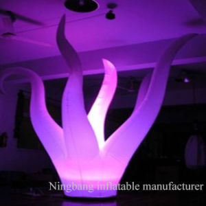 with LED Lights Decoration Pillar Inflatable Palm