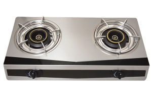 0.38mm Thick Body 2 Burner Stainless Steel Gas Cooker Jp-Gc200 pictures & photos
