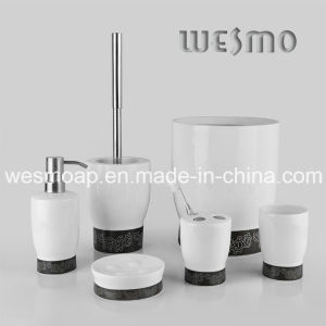 Silver Decal Porcelain Bathroom Set (WBC0619A) pictures & photos