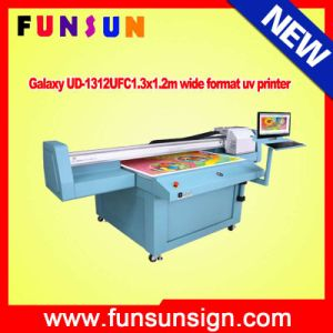 Galaxy Ud-2512ufw 2.5 X1.2m UV Flatbed Printer with White Color for Wood, Glass, Aluminum pictures & photos
