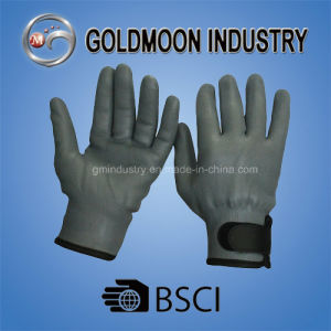 15g Grey Nylon Liner Full Nitrile Foam Finish Magic Tape Cuff Safety Work Glove pictures & photos