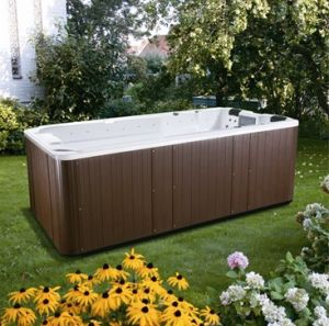 Hydro Whirlpool Massage 4 Meter Swimspa with Pop-up TV pictures & photos