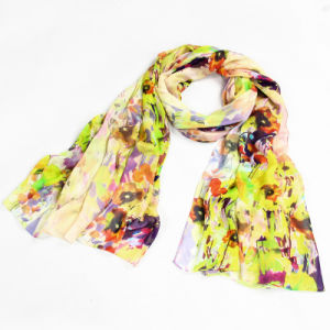 The Factory Custom Colorful Silk Crepe Georgette X-Large Scarf