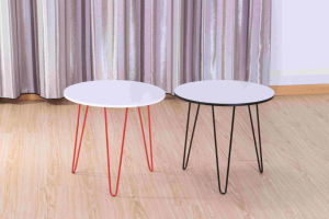 Steel Tube Multi-Color Round Coffee Table for Living Room