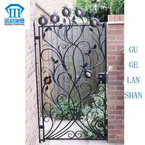 High Quality Crafted Wrought Iron Single Gate 009 pictures & photos