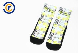 5cf7f447639 China Customized Men Nylon Elastane Cycling Socks with Sublimation ...