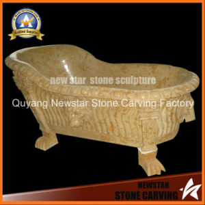 Stone Carving Sanitary Ware Freestanding Bathtub Marble Bathtub pictures & photos