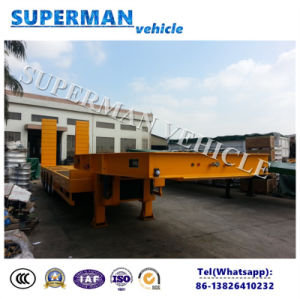 80t Excavator Use Utility Superlink Drawbar Lowbed/ Lowdeck Semi Truck Trailer pictures & photos