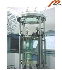 China round indoor commercial panoramic elevator china for Indoor elevator