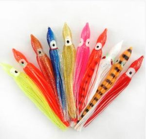 China Octopus Squid Skirt Lures Bait Hoochies Saltwater Soft