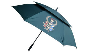 Manual Open Fibreglass Shaft Golf Umbrella/Hot Sale Promotional Umbrella (75G217)