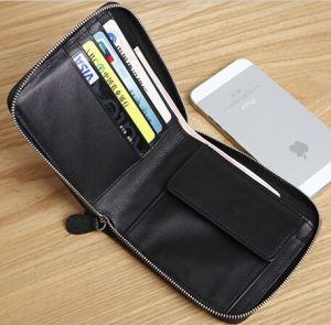 the best attitude c59d5 711e4 Zip Around Leather Card Holder Coin Pocket Mens Billfold