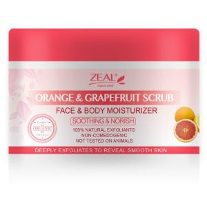 Zeal Orange&Grape Fruit Body Soft Whitening Body Scrub pictures & photos