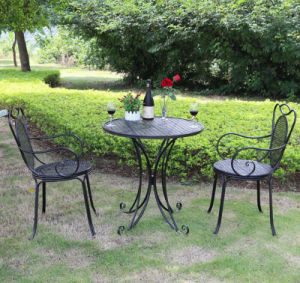 Hot Sale Wrought Iron Outdoor Furniute Sets pictures & photos