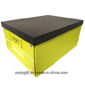 Multipurpose Custom Logo Printing Paper Cardboard Foldable Storage Box with Metal Button pictures & photos