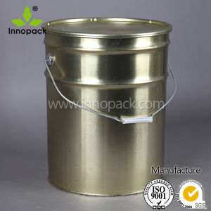Color Un Proved Unrustable 15L Paint Metal Pail Bucket with Ring Lock pictures & photos