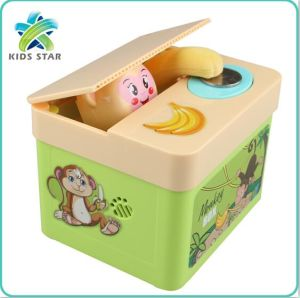 New Arrival Whole Monkey Money Safe Box Piggy Bank Stealing Coin Banks Animal Plastic Cartoon Toys For Kids