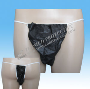 Nonwoven Dispsoable G-String for Men, Hot Korea Men′s G-String Underwear pictures & photos